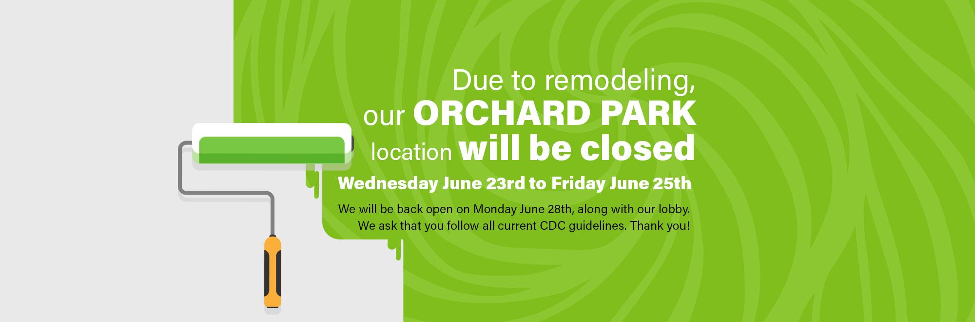 Orchard Park Branch Closed